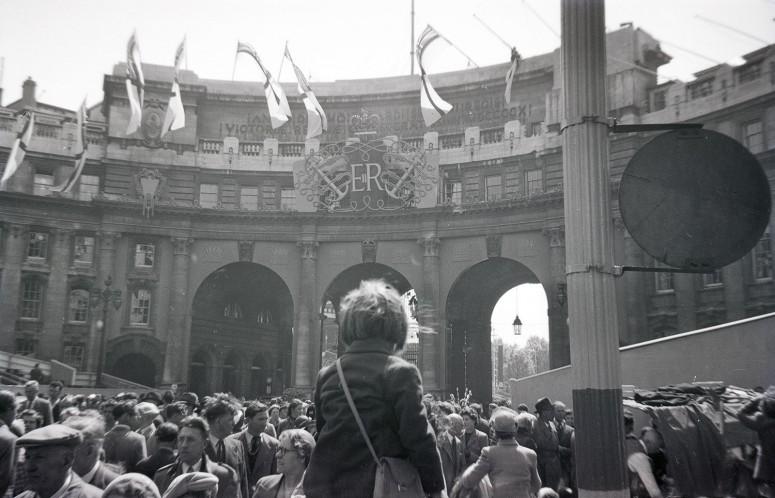 Admiralty Arch et les lettres ER, Elizabeth Regina