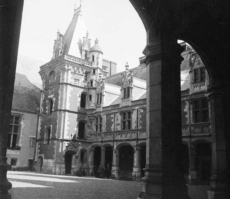 Château de blois, façade Louis XII intérieur
