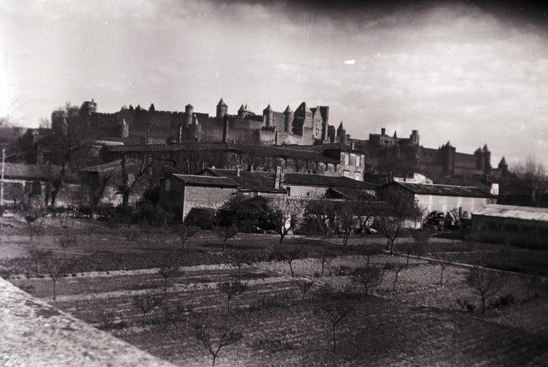 Carcassonne, vue générale des remparts