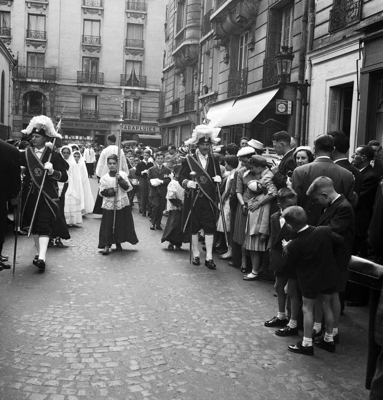 L'arrivée de la procession