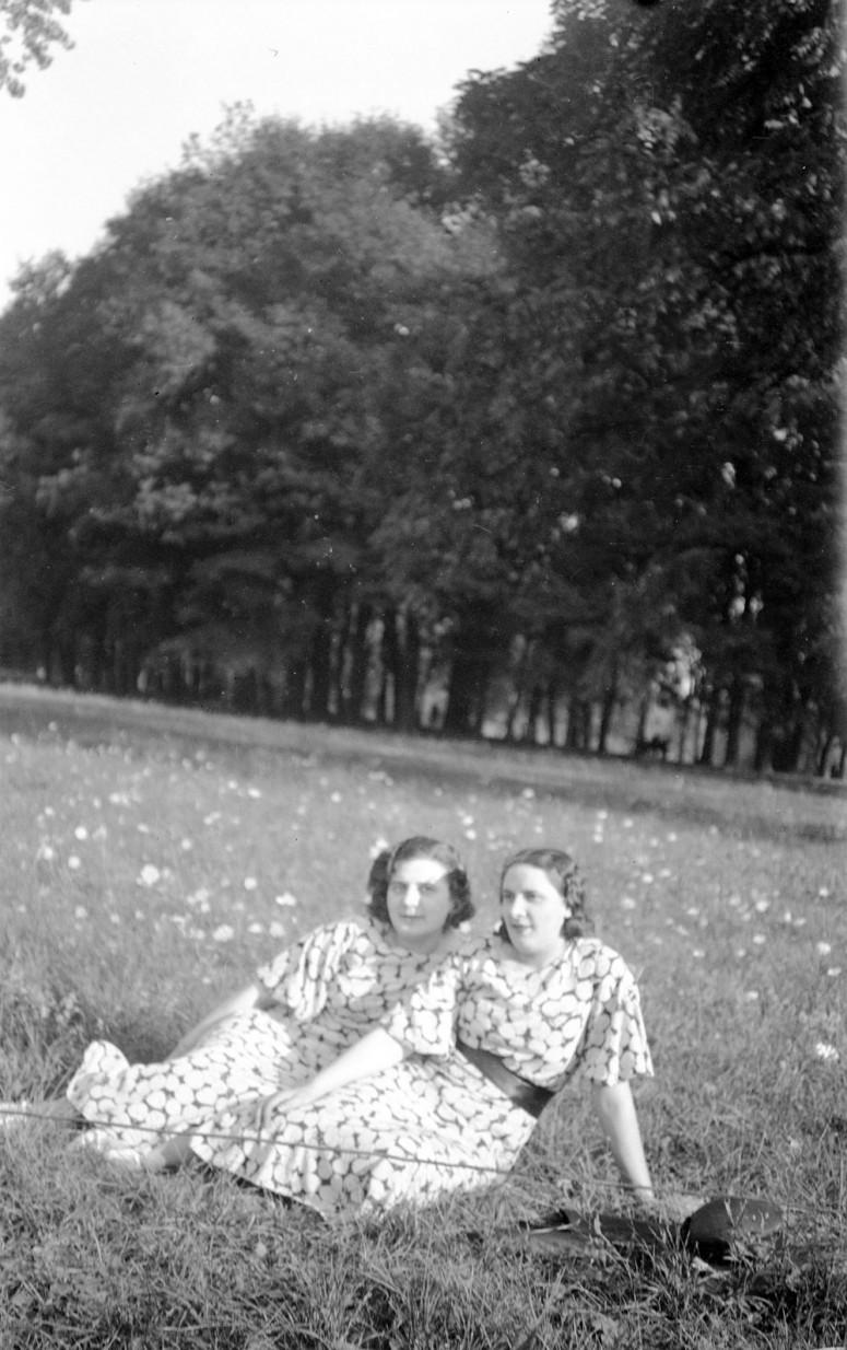 Jumelles dans le pré - années 30