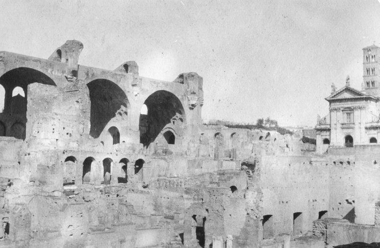 Rome, la basilique de Maxence et Constantin