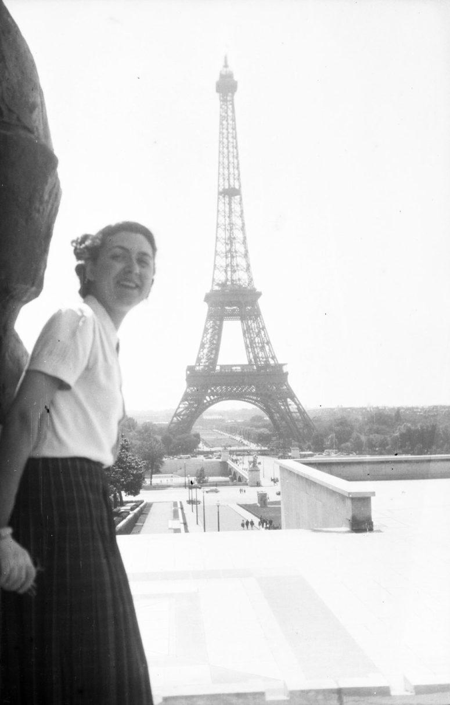 Vue sur la Tour Eiffel depuis les jardins du Trocadéro