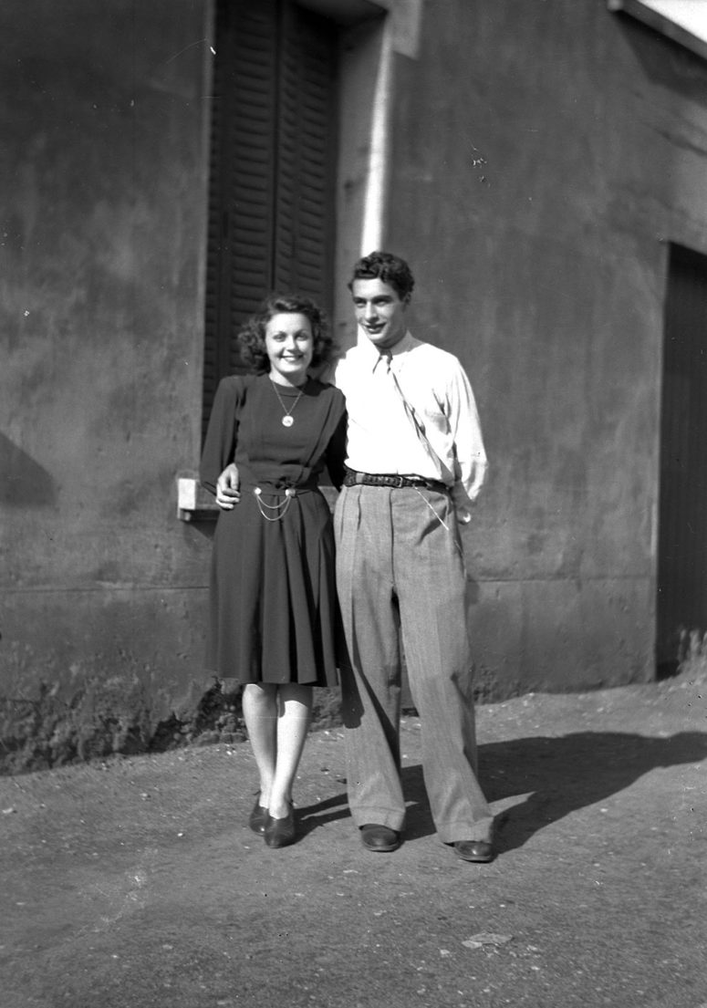 Jeune couple, années 40