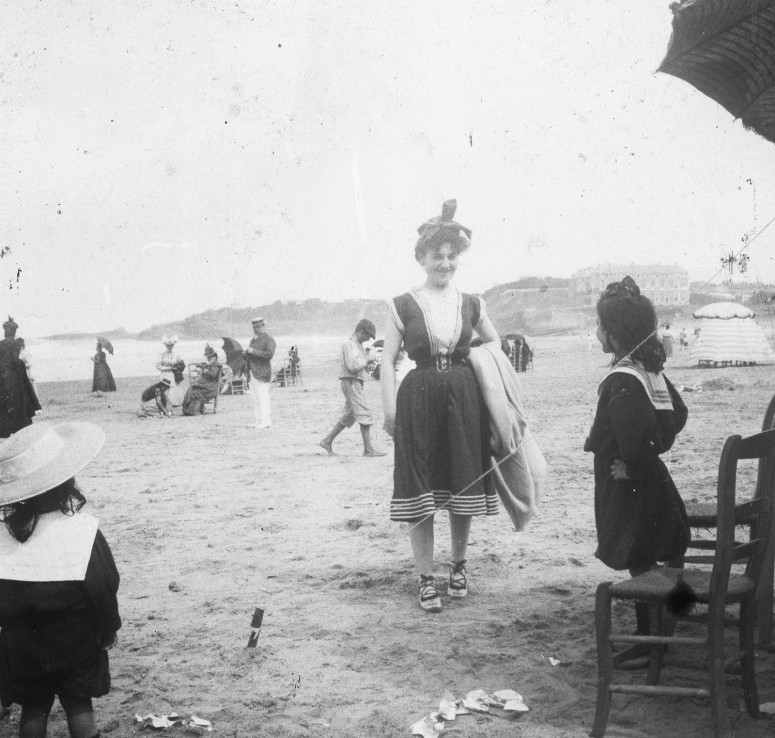 Biarritz, 1898... sur la plage