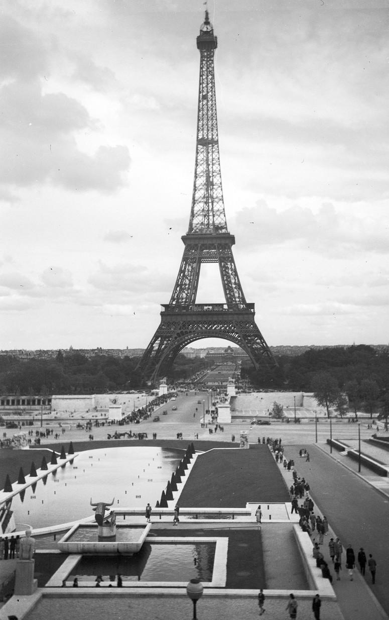 Les jardins du Trocadéro et la Tour Eiffel