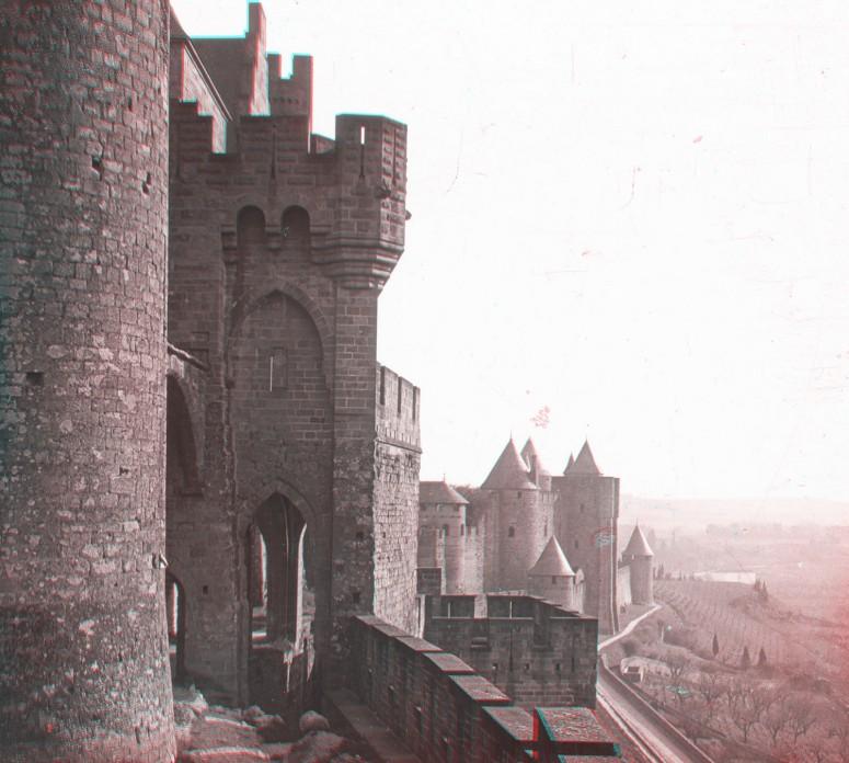 Carcassonne, l'entrée du château