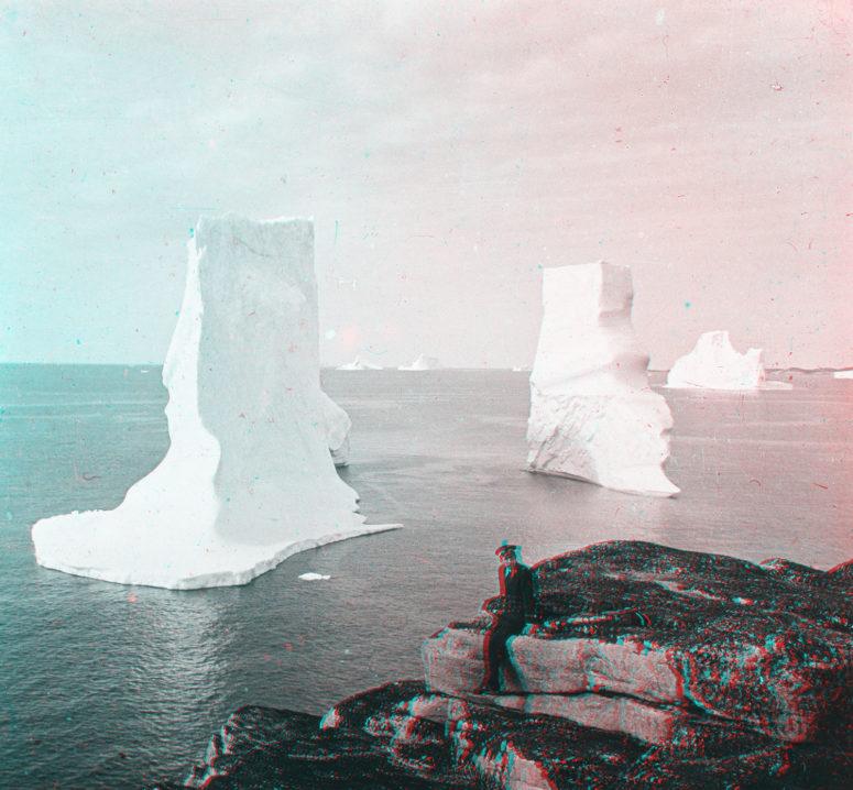Icebergs devant Godhavn Groenland