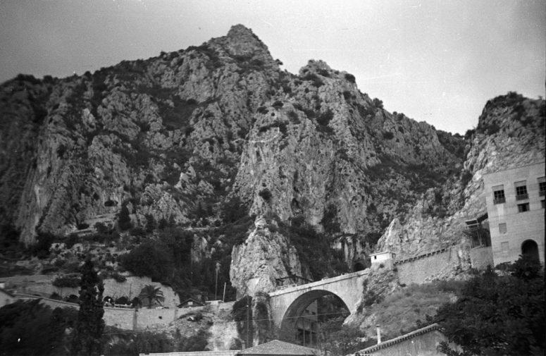 La frontière franco-italienne à Menton