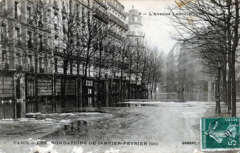 Paris, les inondations de janvier-février 1910