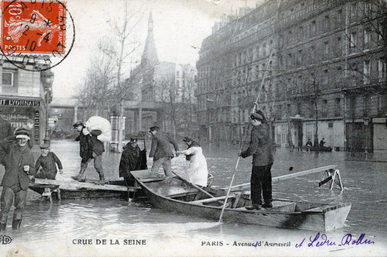 Crue de la Seine Paris - Avenues Daumesnil et Ledru-Rollin