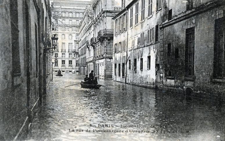 Rue de Poitiers (gare d'Orsay) le 25 janvier