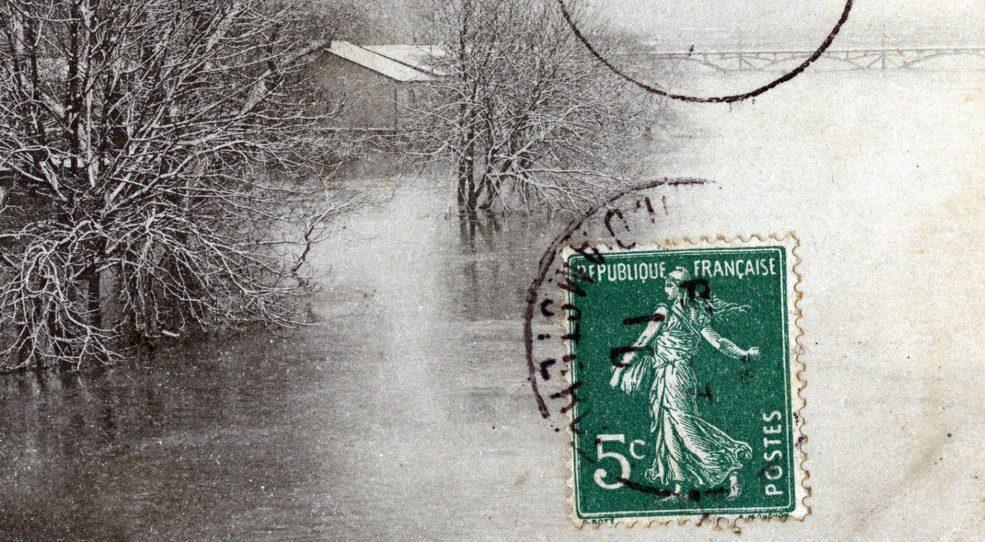 La crue de la Seine à Paris (1910) <br>en cartes postales
