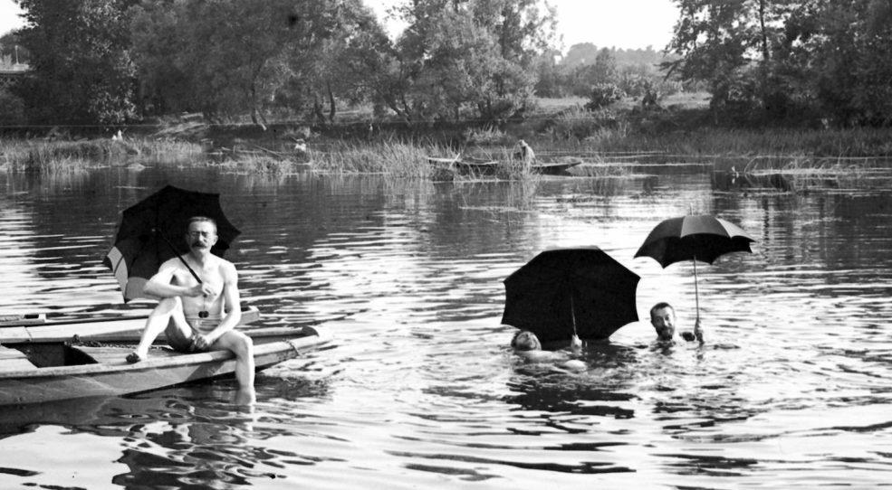 Baignade dans la Marne