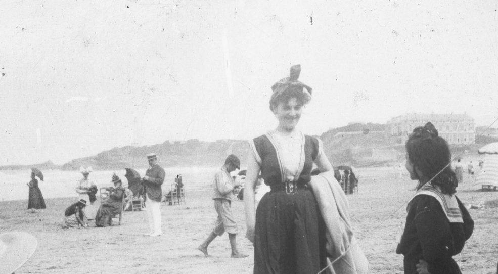 Biarritz, 1898… sur la plage