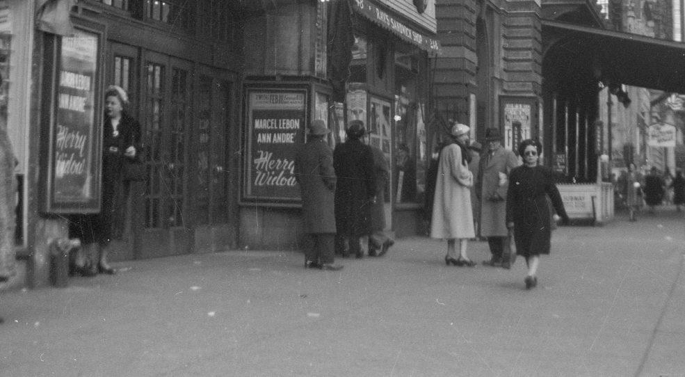 La Veuve joyeuse, au théâtre Shubert, Philadelphie 1952
