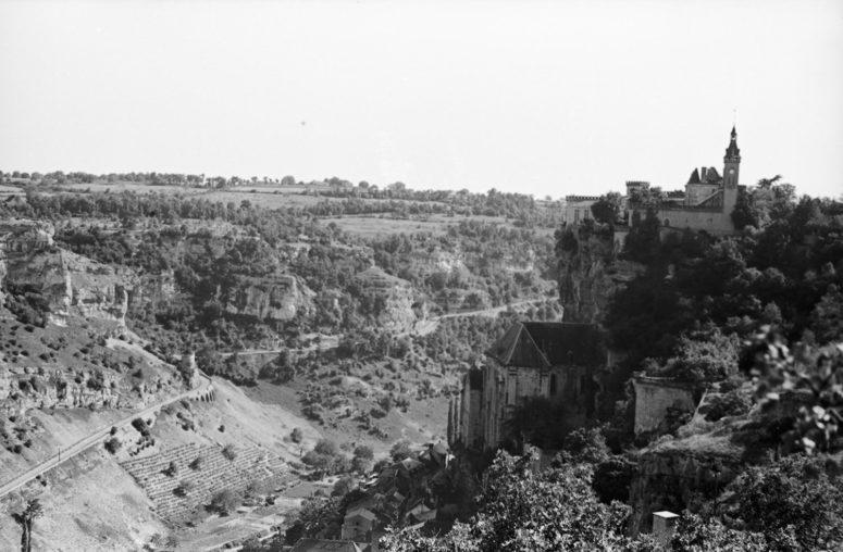 Vue sur Rocamadour, années 40