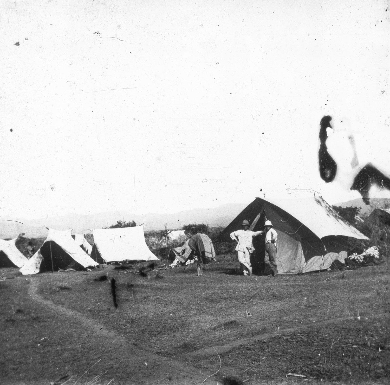 Campement d'ingénieurs Abyssinie Mai 1911