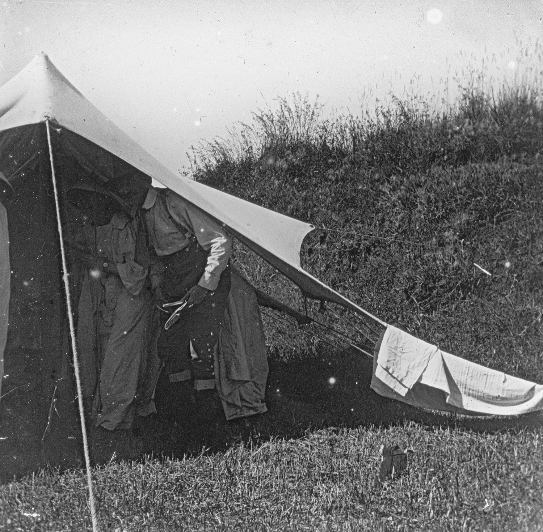La tente au réveil 28 octobre 1918