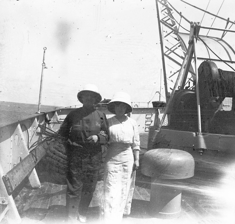 Sur le P.... amis de voyage 1913