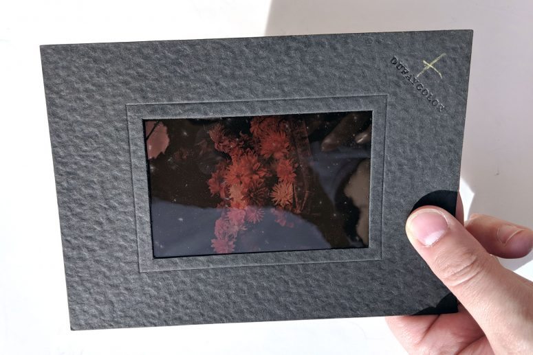 Film Dufaycolor monté